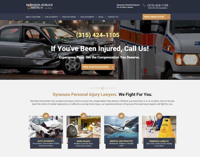 Law Firm Attorney Website Design Syracuse NY