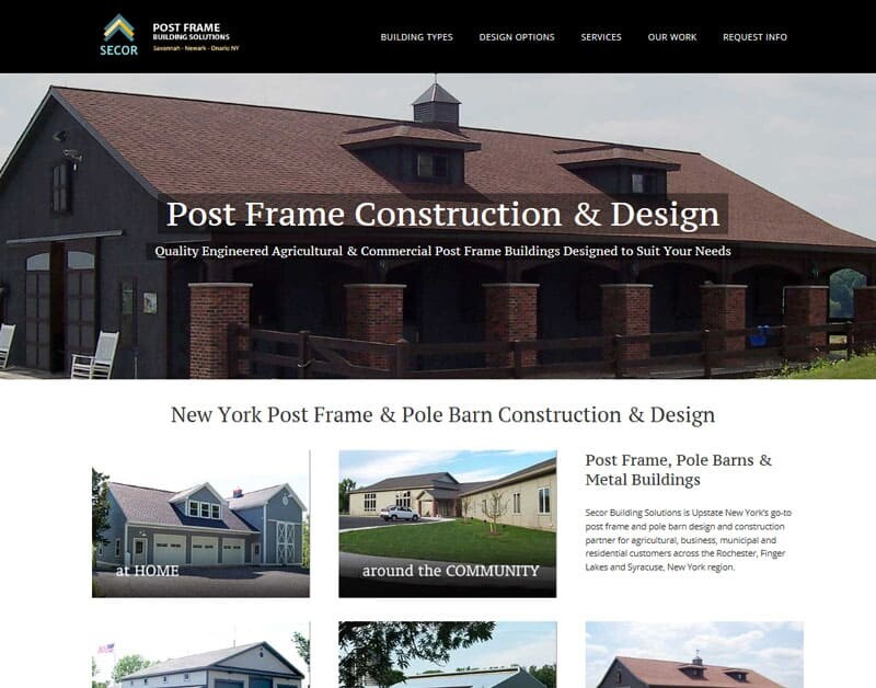 Construction Contractor Website Design Syracuse NY