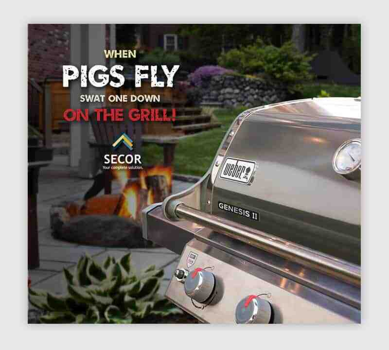 Graphic Design Syracuse NY - Secor Weber Grill Promo