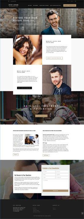 hair restoration web design marketing