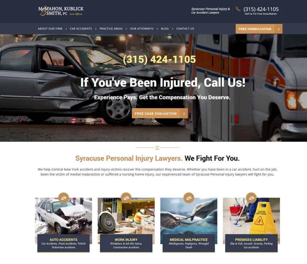 Lawyer Attorney Website Design Syracuse NY
