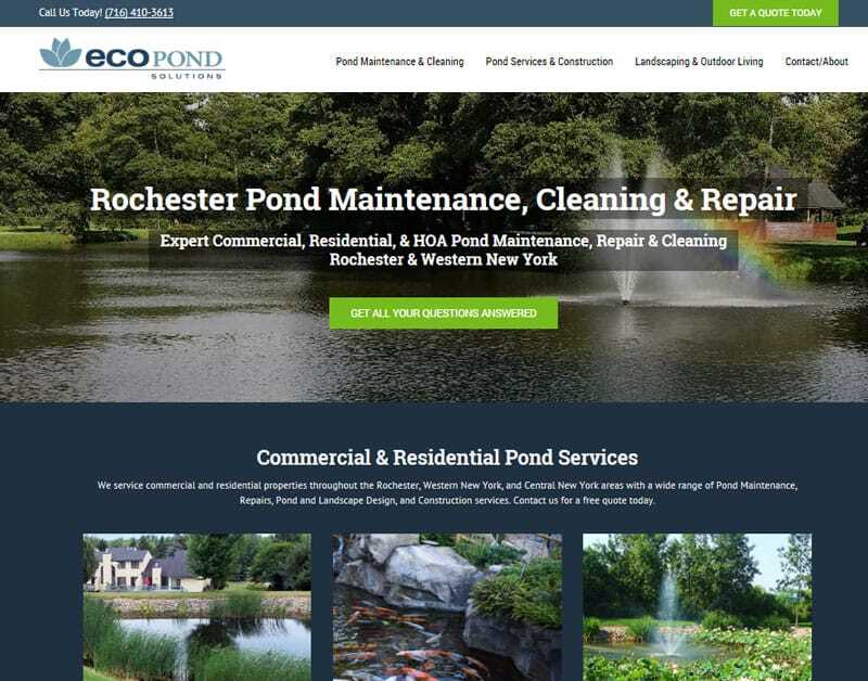 pond maintenance company rochester ny