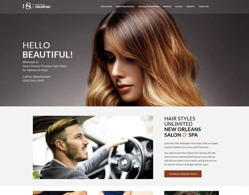 hair replacement web design development