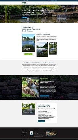 Pond & Landscaping Construction Web Design