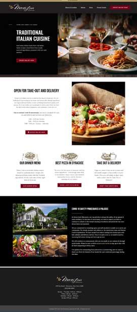 Syracuse restaurant website design marketing New York.